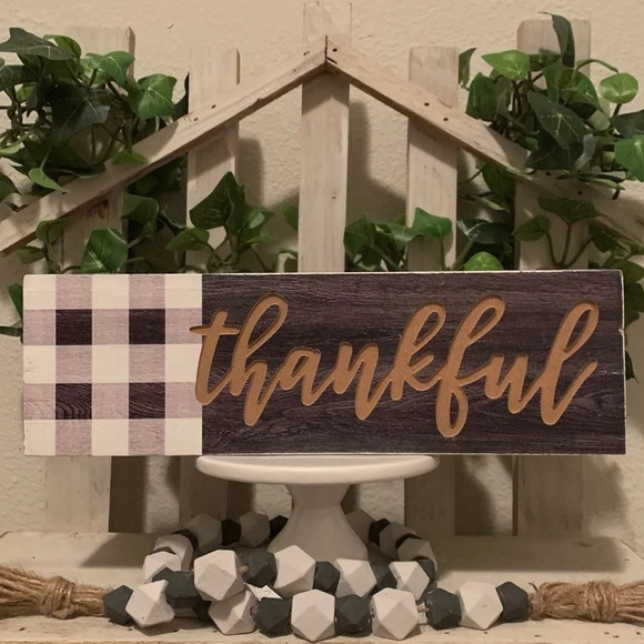 Hobby Lobby Other - Farmhouse wooden thankful box sign